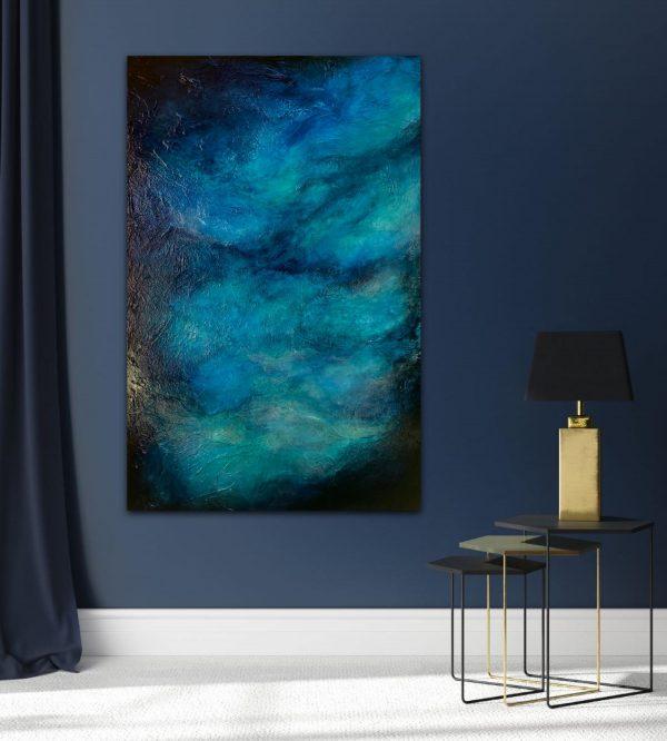 Abstract painting, original art, textured painting, mixed media art